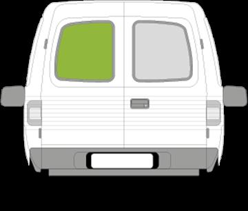 Afbeelding van Achterruit links Opel Combo (getint/verwarmd)